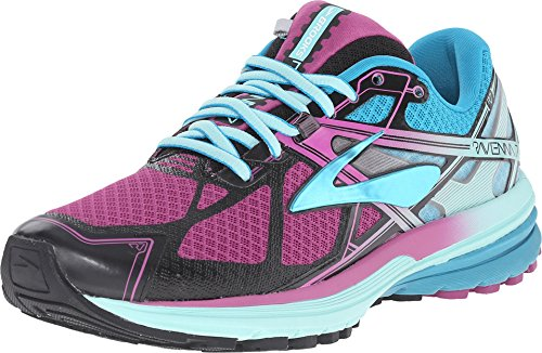 Image of the Brooks Women's Ravenna 7 Deep Orchid/Caneel Bay/Aruba Blue Sneaker 6 B (M)