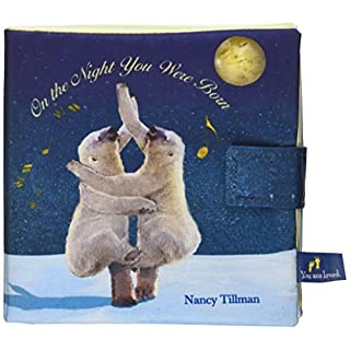 DEMDACO On The Night You Were Born Dancing Bears Frosted Blue Children's Plush Soft Book Toy