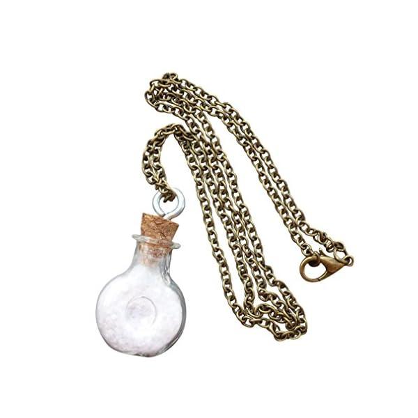 Steampunk Necklace Magic Fire Fairy Angel Dust Pendant Charm Glow in The Dark Kawaii Pixie 5