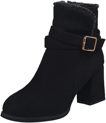 IZHH Ankle Boots Women Autumn Slip-On