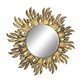 Woodland Imports Shimmering Wood Carved Wall Mirrors
