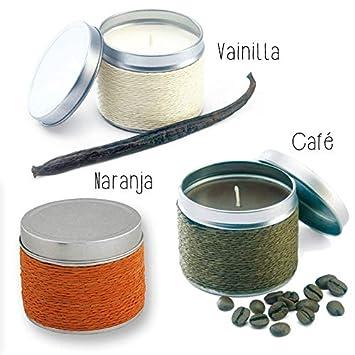 Lote de 18 Velas Fragancia Naranja, Café y Vainilla. - Velas para Bautizos Detalles y Recuerdos: Amazon.es: Hogar