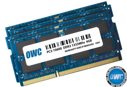 OWC 16.0GB (4x 4GB) 1333MHz 204-Pin DDR3 SO-DIMM PC3-10600 CL9 Memory Upgrade Kit For iMac