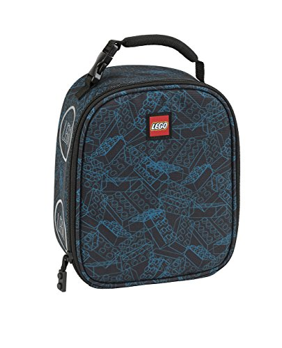 - LEGO Kids Blue Print Lunch Backpack, Black, One Size