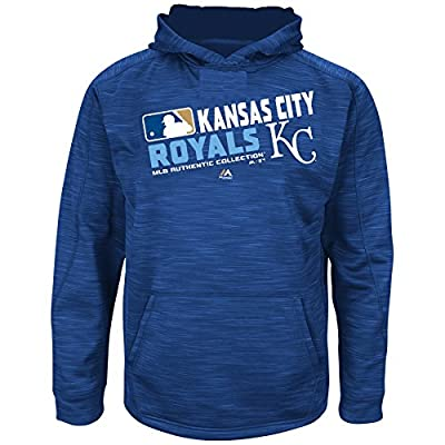 MLB Youth Authentic Collection Team Choice Streak Fleece Hoodie (Youth Medium 10/12, Kansas City Royals)