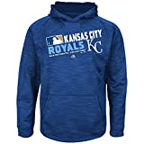 MLB Youth Authentic Collection Team Choice Streak Fleece Hoodie (Youth Large 14/16, Kansas City Royals)
