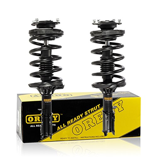 Front Pair 2 Pieces Quick Complete Shock Strut Coil Springs Assembly Kit compatible with 2002 2003 2004 2005 Kia Sedona FWD