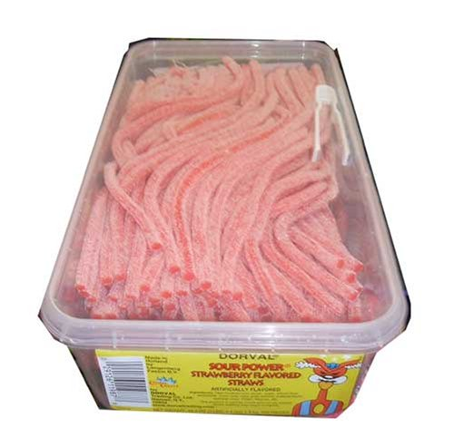 Sour Power Strawberry Flavored Straws (Power Straws Sour)