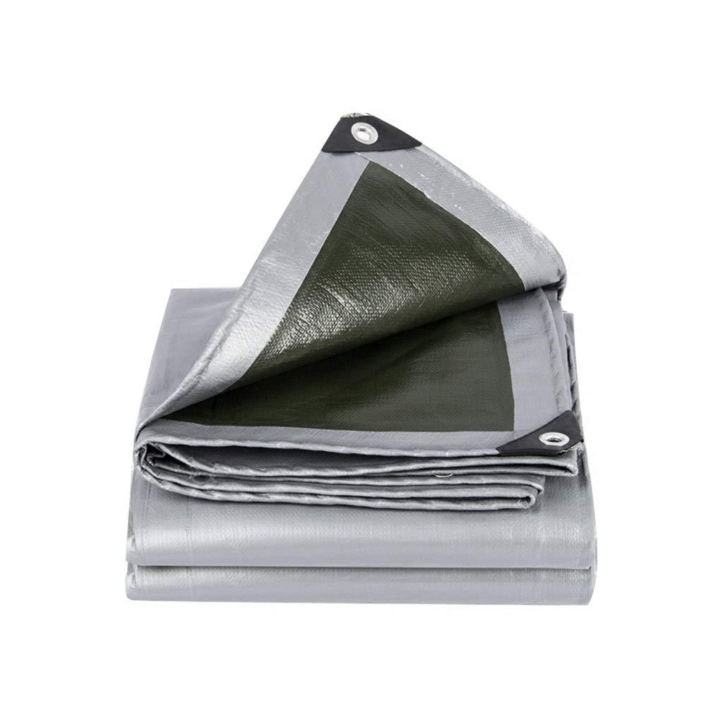 YEIUY Imprägniern Sie Regenplane Poncho des Regens der Wasserdichten Plane grünen imprägnierten Gewebe der hohen Dichte, Segeltuchfischen-Mattengartenarbeit, Multi-Größe