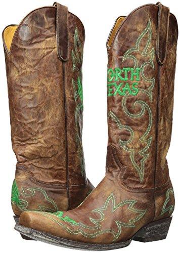 Ncaa North Texas Betekent Groene Heren Gameday Laarzen Messing