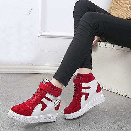 Wasserdicht Sonnena Rot Ultra Ferse Bequem Freizeitschuhe Sneaker 35 Laufschuhe Fitness Schnürer Turnschuhe 40 Gym Sportschuhe Damen Flache Light TFHwAFqnY