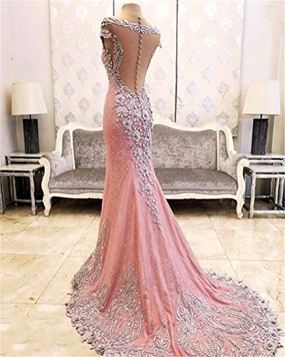 Tsbridal Luxury Mermaid Prom Dresses 2018 Lace Crystals Party Dress