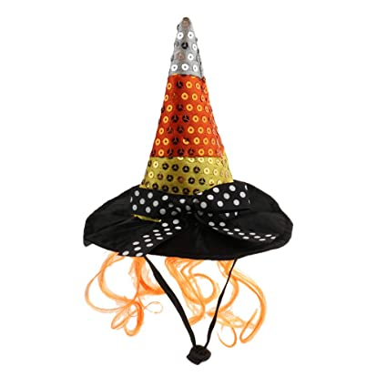 Flameer Pet Halloween Wizard Hat For Cat Small Dog Puppy Head Wear Party Costume Birthday