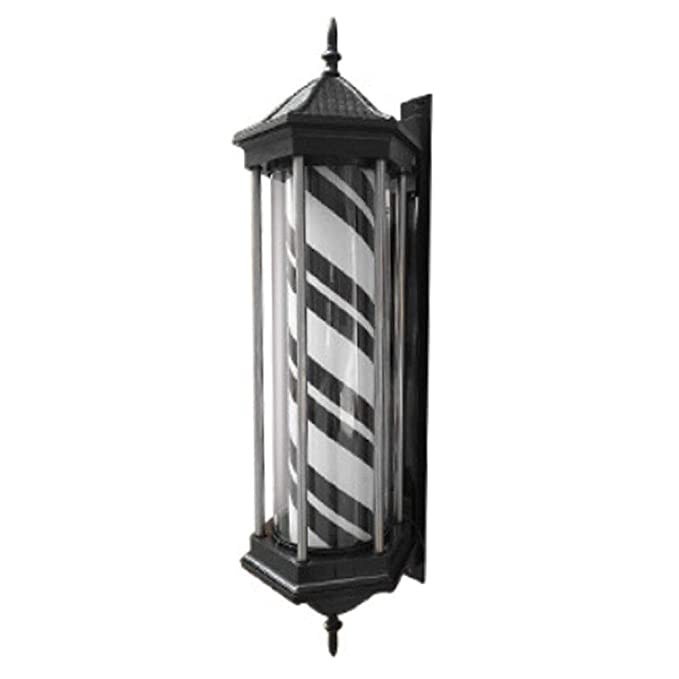 LED Poste de Barbero LED Barbero tienda Firmar Polo ligero negro ...