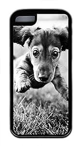 iPhone 5c case, Cute Running Dog iPhone 5c Cover, iPhone 5c Cases, Soft Black iPhone 5c Covers