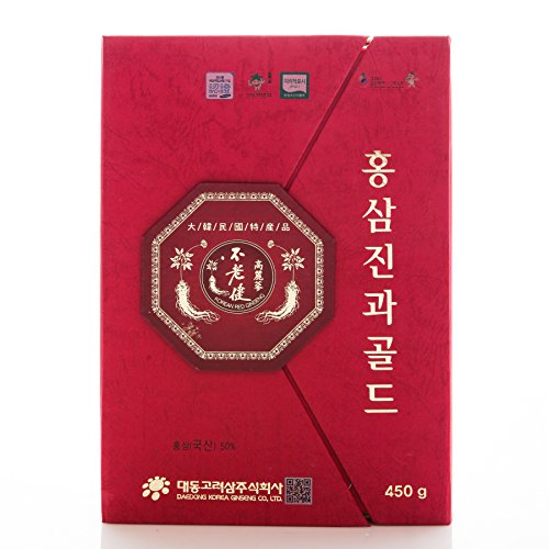 (Korean Honeyed Red Ginseng Whole Roots (1lb(450g)))