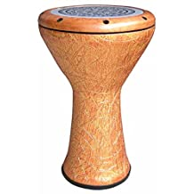 GMP Fibreglass Doumbek from World Drum Source (orange sunrise)
