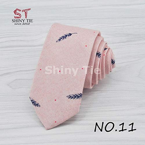 Graven 100% Top Cotton Ties for Men New Collections Birds Leaves Printed Neck Tie Soft Artistic Handmade Gravatas Slim Corbatas Cravat - (Color: 11)