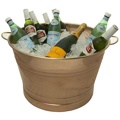 - Old Dutch International Big Copper Metal Ice Bucket Party Tub With Handles, 7.75 Gallon 22 Inch W X 12.25 Inch H