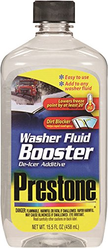 Prestone 15.5 Ounce AS240 Windshield Washer Fluid Booster De-Icer Additive-15.5 oz