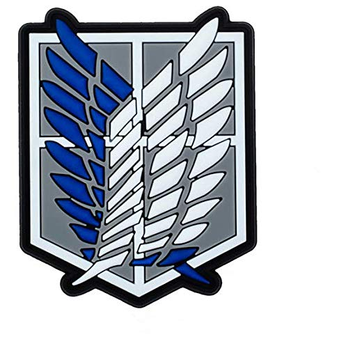Morton Home Attack on Titan Military Hook Loop Tactics Morale PVC Patch (Wings of Freedom Military)