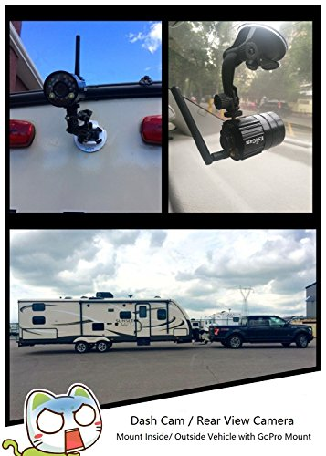 EsiCam Battery Backup Camera Wireless for Smart Phone Versatile Used for RV Travel Trailer Hitch Tow Truck Home Security Baby Monitor Creative All In One Camera with Flash and Battery-EH05-B by EsiCam (Image #5)