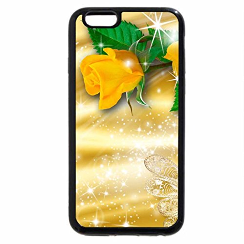 iPhone 6S / iPhone 6 Case (Black) Glowing Yellow Roses
