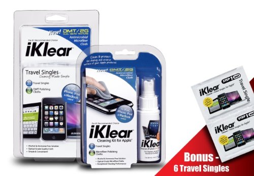 iKlear iPod Cleaning Kit and Travel Singles Combo Pack