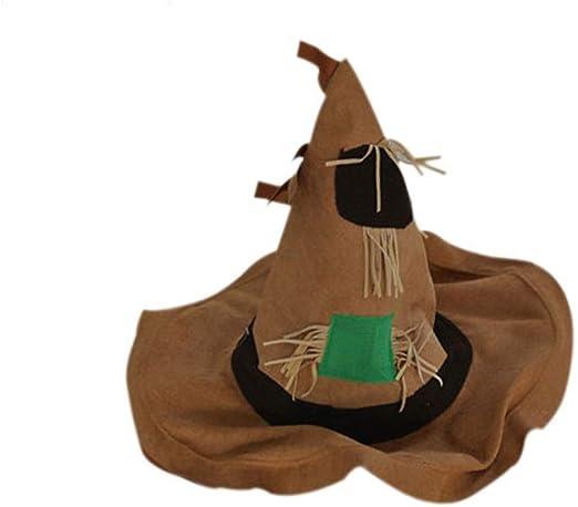 NZQWSJMZ Espantapájaros de Halloween Sombrero Etapa apoyos de la ...