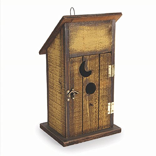 - Darice 5915-248 Outhouse Wooden Birdhouse