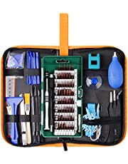 Precision Screwdriver Set 85 in 1 Repair Tool Kit Electronics Magnetic Driver Kit with Premium Portable Bag for Cell Phone, iPhone, iPad, Watch, Tablet, PC, MacBook Laptop and More by WOWGO