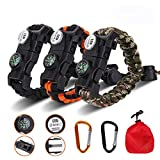 Meetrip 20 in 1 Adjustable Paracord Survival Bracelet, Tactical Survival Gear Kit