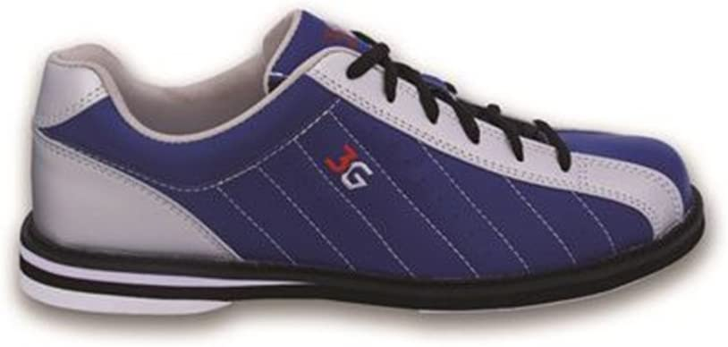 900 Global 3G Mens Kicks Bowling Shoes- Navy/Silver (11 1/2 M US, Navy/Silver)