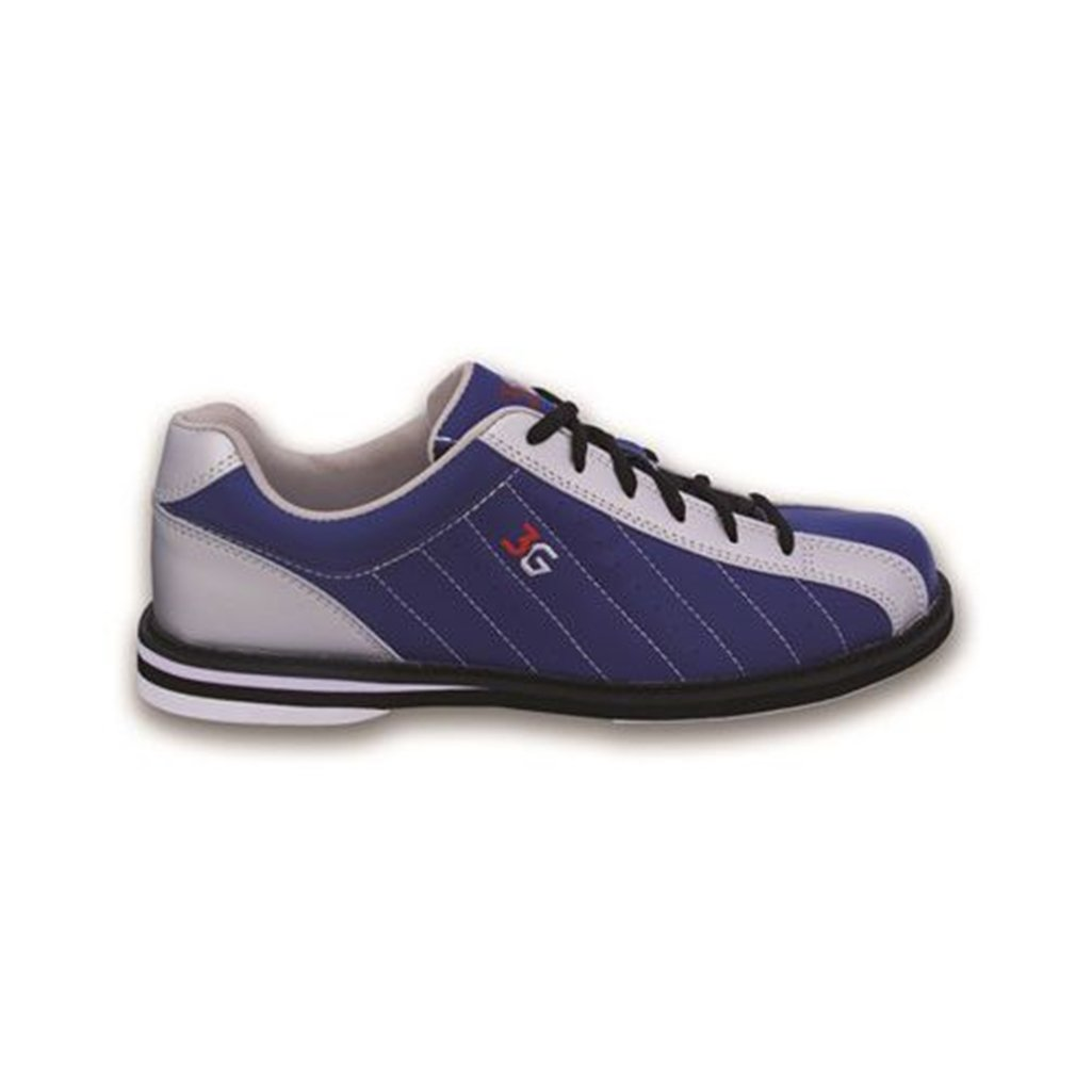 900 Global 3G Mens Kicks Bowling Shoes- Navy/Silver (4 1/2 M US, Navy/Silver)