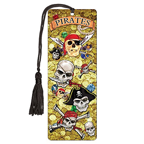 Bookmarks Pirate (Bookmark 3-D with Tassle Pirates Design)