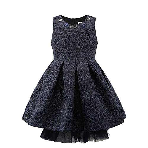 childdkivy Little Girls Clothes Party Dress Toddler/Kid (8(6-7year), 61862navy) -