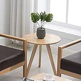 Round Natural Wood Coffee Table Krei Hejmo Solid Wood Coffee Tea Sofa Side Table (101-Round, Natural Finish)