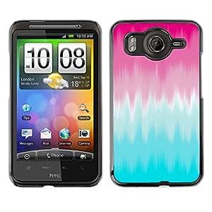 Cubierta de la caja de protección la piel dura para el HTC DESIRE HD / G10 - pink blur blue clean abstract paint