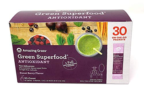Amazing Grass Green Superfood Antioxidant Sweet Berry Flavor .Natural Energy;Promotes Detox;Helps Alkalize;Aids Digestion;Supports Immunity;Gluten Free;No Sugar Added;Plant Based;Non GMO.30 Packets (Amazing Grass Energy Lemon Lime)