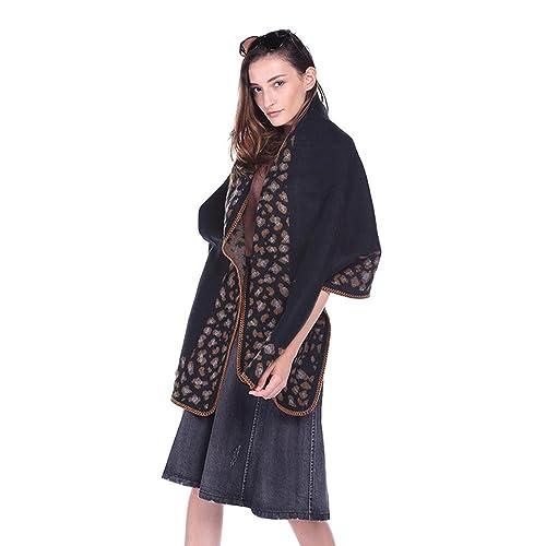 Moda sexy leopardo señoras bufandas largas nuevo temperamento retro étnica impreso chal de aire acon...