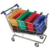 AppleLand 4pcs/Set Thicken Cart Trolley Supermarket Shopping Grocery Grab Storage Bags