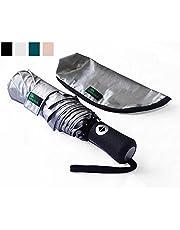 Umenice Paraguas de Viaje UPF 50 + protección UV Ultraligero, Negro