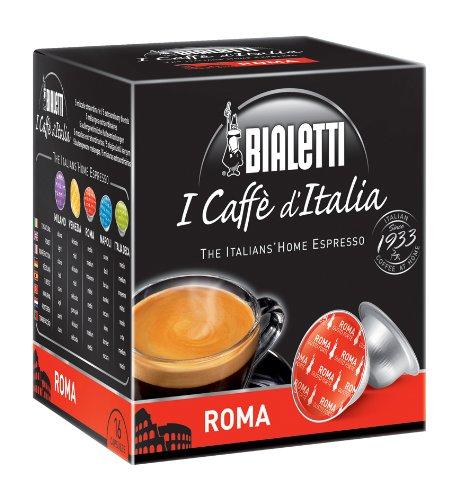 (Bialetti 6821 I Cafe d'italia Mini Express Espresso Capsules, Roma, 16-pack)