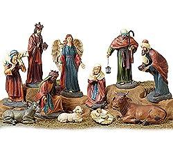 Extra Large Christmas Holy Family Nativity Set of 11 Figures