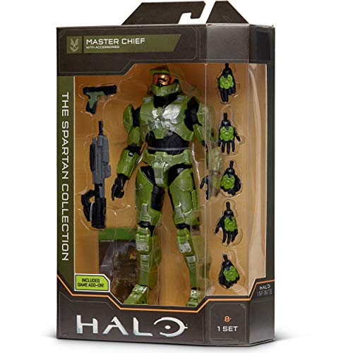 """HALO 6.5"""" Spartan Collection – Master Chief Highly Articulated, Poseable with Weapon Accessories - Scaled to Play & Display"""