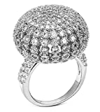 Alimab Jewelery Rings Gold Plated Womens Wedding Bands Hollow Bud White