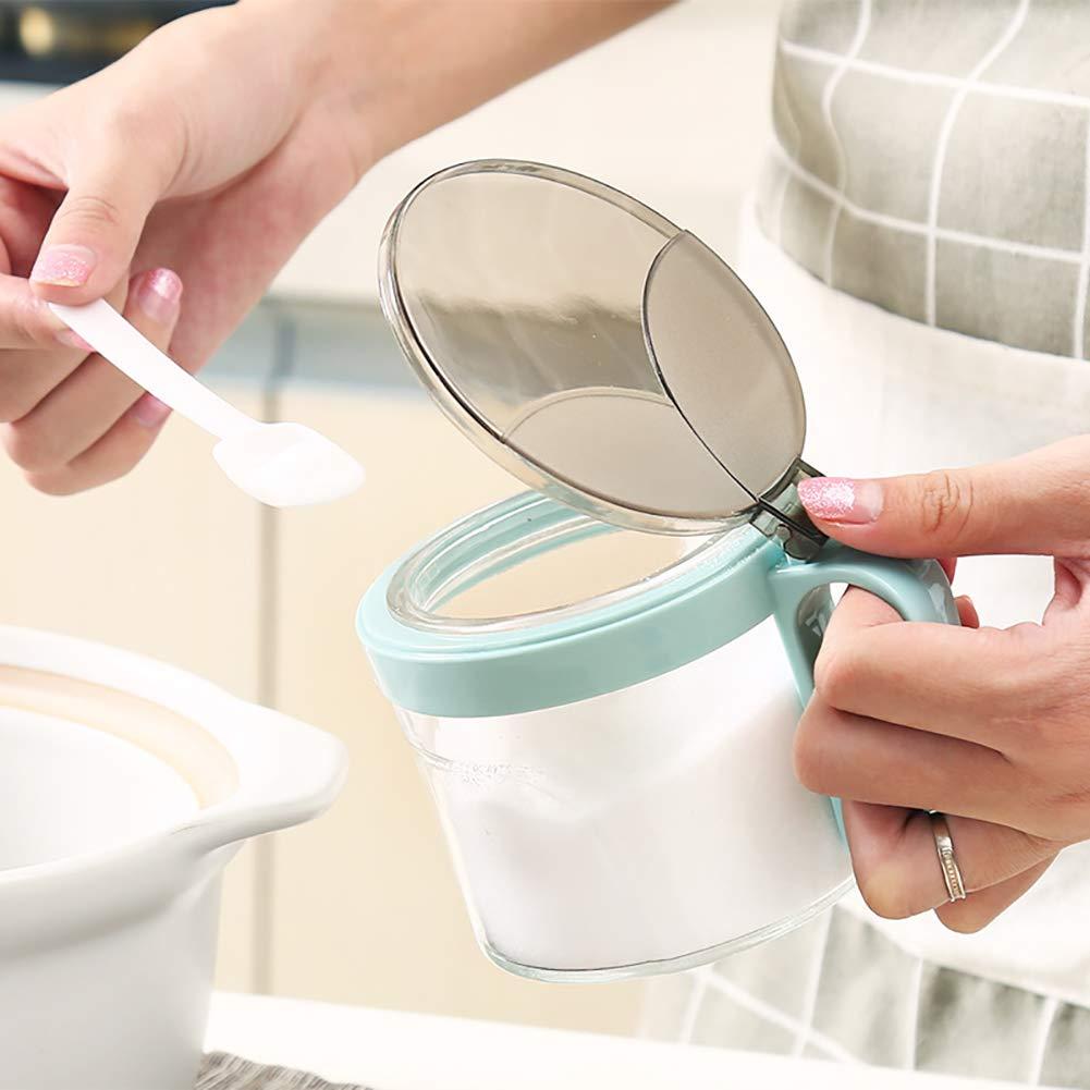 heaven2017 Spice Jar Condiment Storage Seasoning Bottle Container Condiment Pot Double Jar by heaven2017 (Image #4)