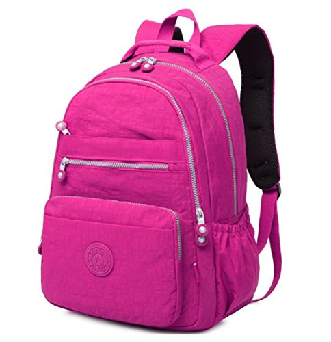 Cute Junior School Book Bag for Lightweight Travel Backpack Waterproof Fashion Ventilated Rucksack Multi-function Strong Computer Laptop Backpack Cycling Hiking Camping Business Outdoor Bag (Plum)