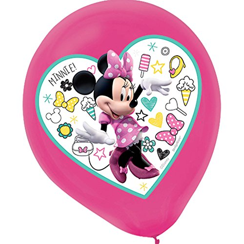 (Amscan Latex Balloons   Disney Minnie Mouse Happy Helpers Collection   Party Accessory )