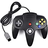 Retro Classic N64 Controller,kiwitata Wired Game Controller Gamepad Joystick for N64 Video System Games Console Black